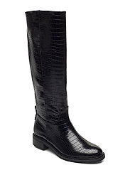 Woms Boots - BLACK CROCO