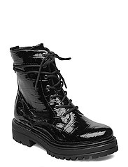 Woms Boots - BLK CROCO PAT.
