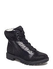 Woms Boots - BLACK STR.COMB