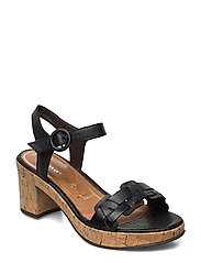Woms Sandals - BLACK LEATHER
