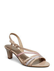 Woms Sandals - NUDE PAT. COMB