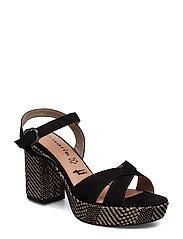 Woms Sandals - BLK.NUBUC COMB