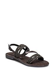 Woms Sandals - BLACK METALLIC