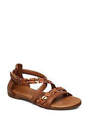 Woms Sandals - COGNAC COMB