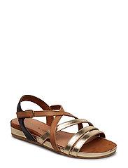 Woms Sandals - NUT COMB
