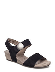 Woms Sandals - BLACK SUEDE