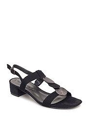 Woms Sandals - BLK SUEDE/BLK
