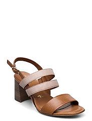 Woms Sandals - COGNAC LEA.COM