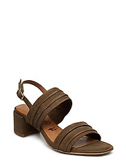 Woms Sandals - OLIVE SUEDE
