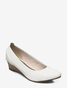 Woms Court Shoe - wedges - white