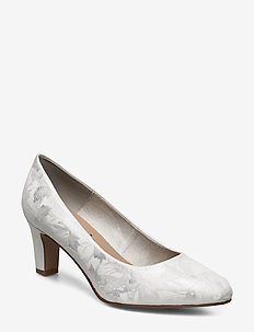 Woms Court Shoe - klassiske pumps - white met.str.