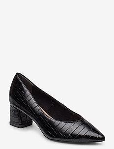 Woms Court Shoe - klassiske pumps - black croco