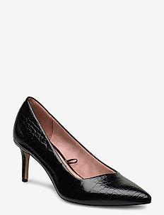 Woms Court Shoe - klassiset piikkikorkokengät - black croco