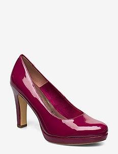 Woms Court Shoe - klassiske pumps - cranberry pat