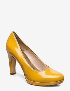 Woms Court Shoe - klassiske pumps - saffron patent
