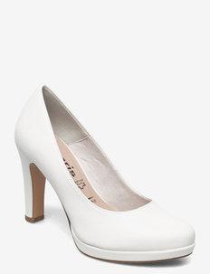 Woms Court Shoe - klassische pumps - white matt