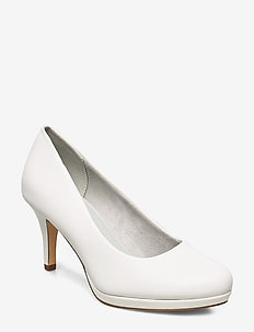 Woms Court Shoe - WHITE MATT