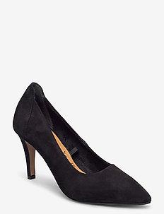 Woms Court Shoe - klassiska pumps - black suede