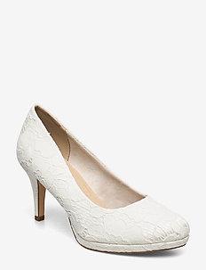 Woms Court Shoe - klassiske pumps - ivory macramee