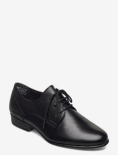 Woms Lace-up - veterschoenen - black leather