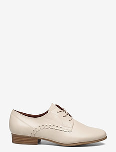 Woms Lace-up - snörskor - cream leather