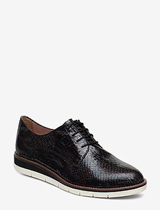 Woms Lace-up - BLACK SNAKE