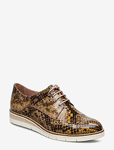 Woms Lace-up - laced shoes - taupe snake