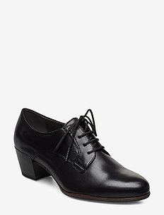 Woms Lace-up - black lea.uni