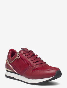 Woms Lace-up - chunky sneakers - lipstick/gold