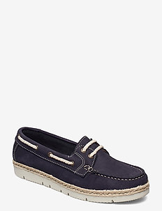 Woms Lace-up - lage espadrilles - navy