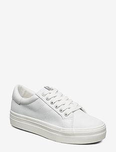 Woms Lace-up - WHITE/WASHABLE
