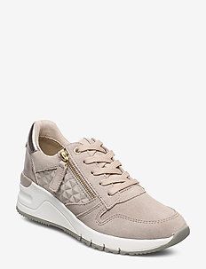 Woms Lace-up - matalavartiset tennarit - taupe comb