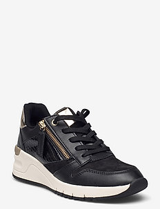 Woms Lace-up - chunky sneakers - black/gold