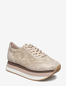 Woms Lace-up - chunky sneakers - gold comb
