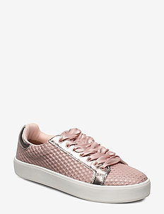Woms Lace-up - matalavartiset tennarit - rose structure