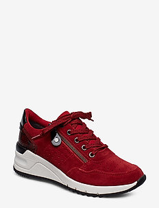 Woms Lace-up - SCARLET COMB