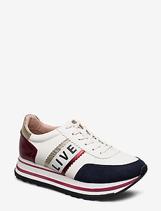 Woms Lace-up - matalavartiset tennarit - white/live now