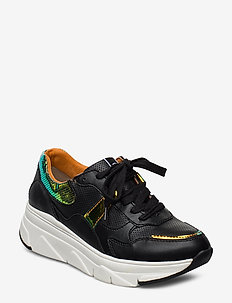 Woms Lace-up - chunky sneakers - black comb