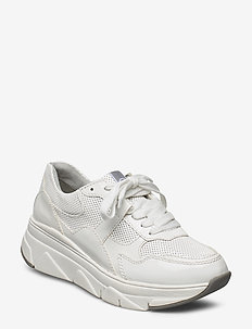 Woms Lace-up - chunky sneakers - white patent