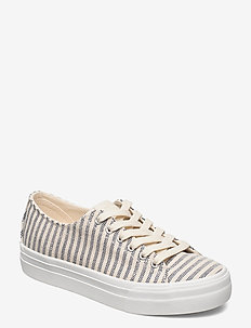 Woms Lace-up - låga sneakers - navy stripes