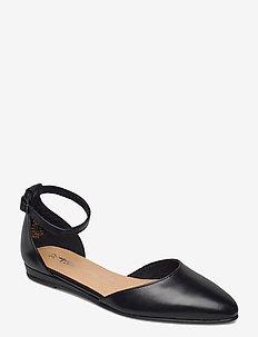 Woms Slip-on - ballerines - black leather