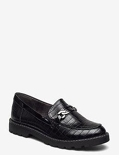 Woms Slip-on - loaferit - black croco