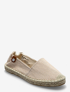 Woms Slip-on - platta espadriller - sand stripes
