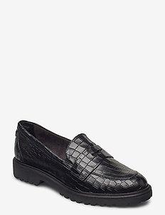 Woms Slip-on - instappers - black croco