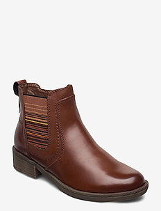 Woms Boots - chelsea støvler - cognac