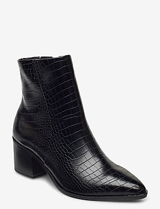 Woms Boots - ankle boots with heel - black croco