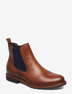 Woms Boots - NUT LEA./BLUE