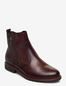Woms Boots - platte enkellaarsjes - muscat