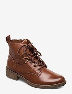 Woms Boots - tasapohjaiset nilkkurit - cognac