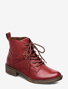 Woms Boots - tasapohjaiset nilkkurit - sangria
